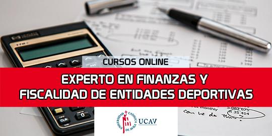Portada del curso Experto en Finanzas y Fiscalidad de Entidades Deportivas (Universidad Católica de Ávila)