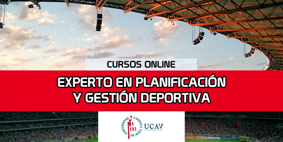 Portada del curso Experto en Planificación y Gestión Deportiva (Universidad Católica de Ávila)