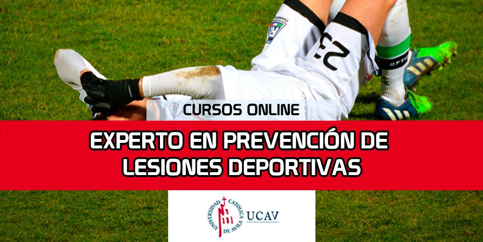 Portada del curso Experto en Prevención de Lesiones Deportivas (Universidad Católica de Ávila)