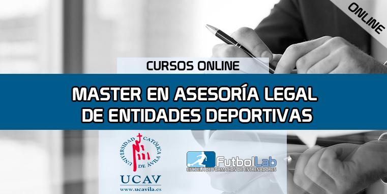 Portada del curso Máster en Asesoría Legal de Entidades Deportivas (Universidad Católica de Ávila)