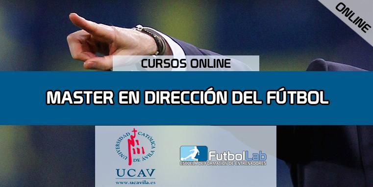 Portada del curso Master en Dirección del Fútbol (Universidad Católica de Ávila)