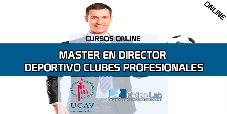 Portada del curso Master en Director Deportivo de Clubes de Fútbol (Universidad Católica de Ávila)