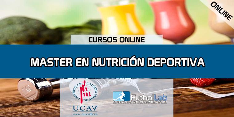 Portada del curso Master en Nutrición Deportiva (Universidad Católica de Ávila)