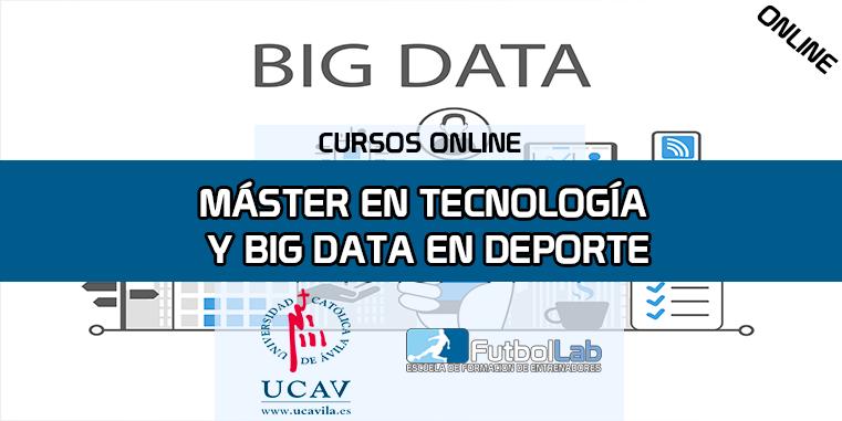 Portada del curso Máster en Tecnología, Big Data y Uso del GPS en Deporte (Universidad Católica de Ávila)