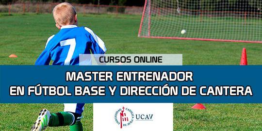 Portada del curso Master en Director Fútbol Base y Responsable de Canteras (Universidad Católica de Ávila)