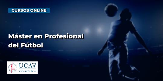 Portada del curso Máster en Profesional del Fútbol (Universidad Católica de Ávila)