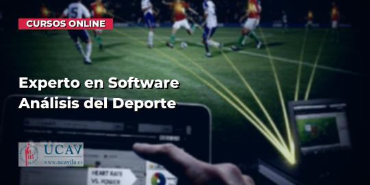 Portada del curso Experto en Software Análisis del Deporte (Universidad Católica de Ávila)