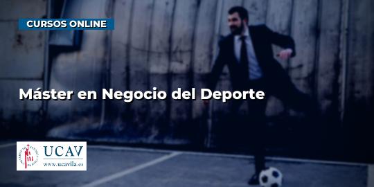 Portada del curso Máster en Negocio del Deporte (Universidad Católica de Ávila)