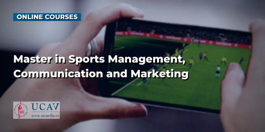 コースカバースポーツの管理、コミュニケーション、マーケティングの修士号(UCAV)