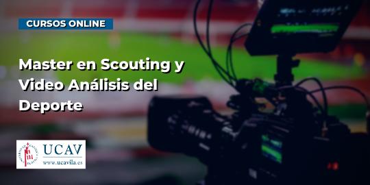 Portada del curso Máster en Scouting y VideoAnálisis del Deporte (Universidad Católica de Ávila)